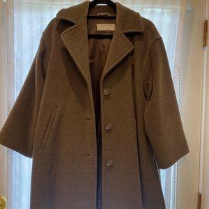 Max Mara brown teddy bear 3/4 length 100% wool coat